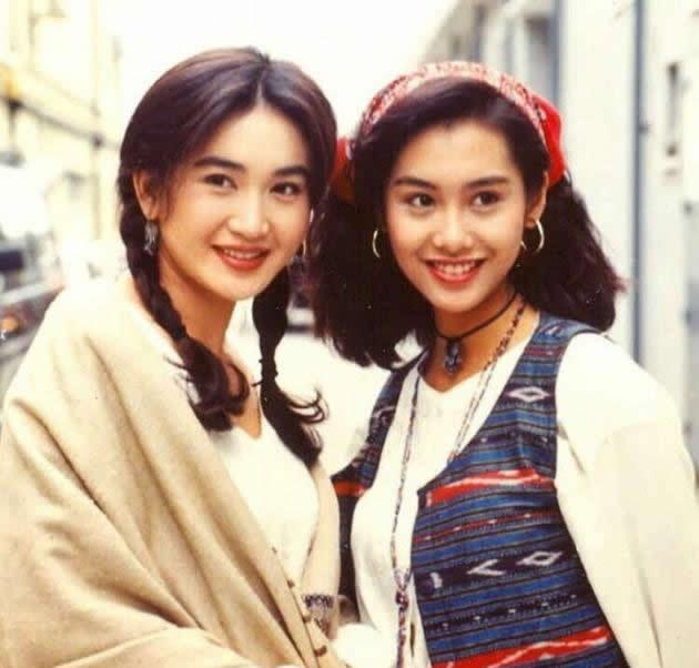 老照片:温碧霞和朱茵