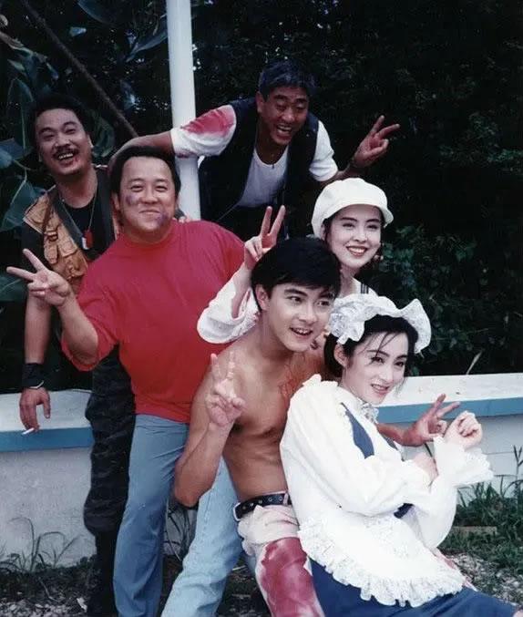 老照片 :吴孟达,柯受良,曾志伟,张卫健,王祖贤,张敏