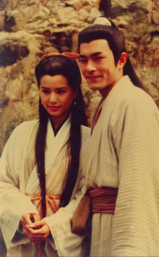 老照片:1995年电视剧《神雕侠侣》古天乐和李若彤。