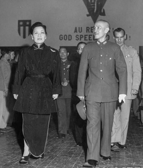 老照片:蒋介石和宋美龄